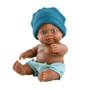 00147 Кукла пупс Олмо, 22 см, мулат